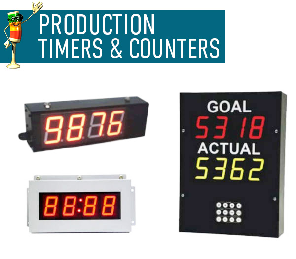 LED Production Timers and Counters