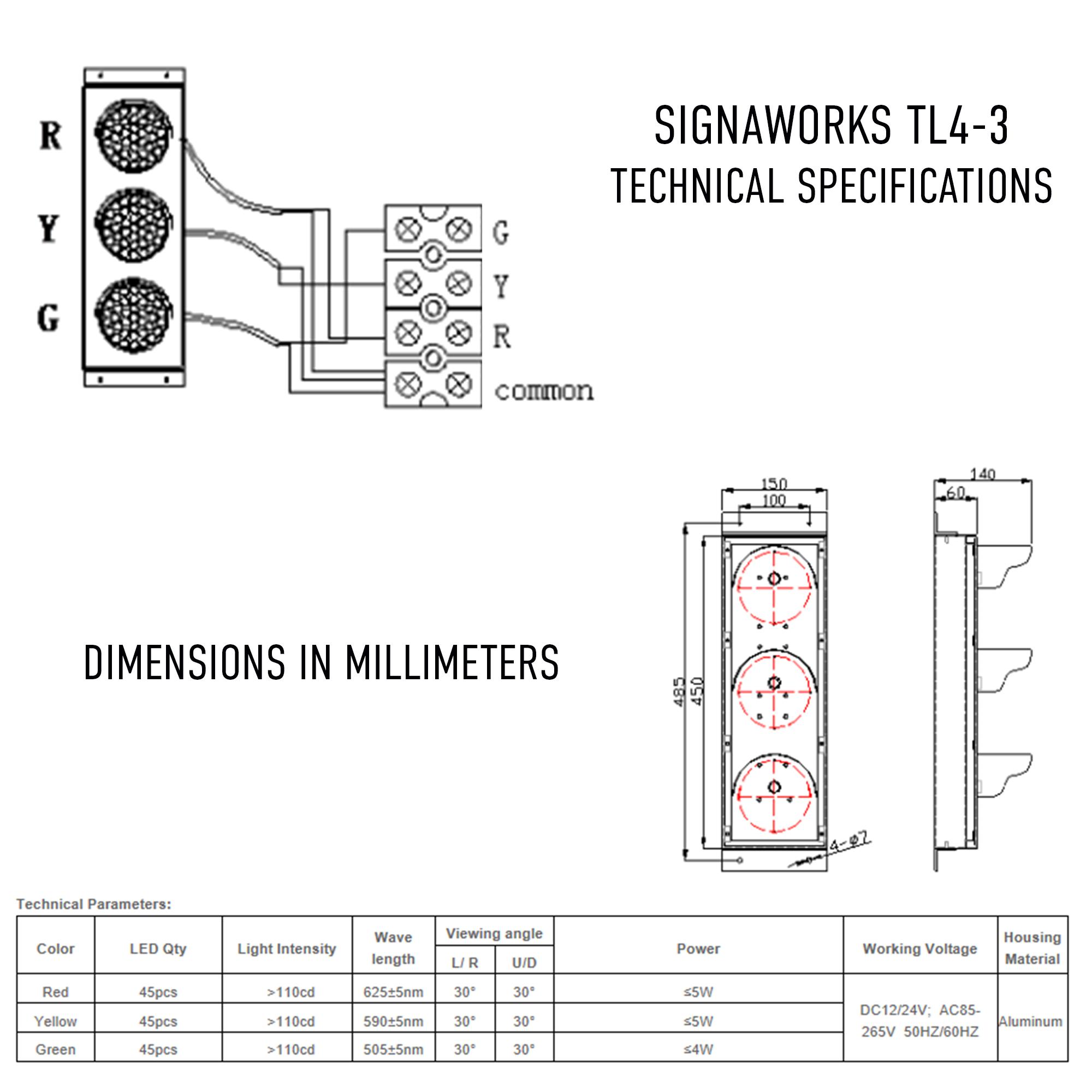 4 Inch Led Traffic Light Industrial Signaworks Trafficsignallightcontroldiagram3 Tl4 2 Pdf